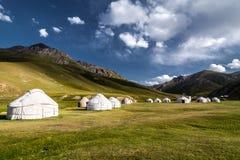 Góry i jurty Zdjęcia Stock