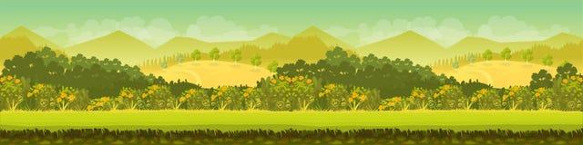 Góry i las, natura krajobraz Zdjęcie Stock