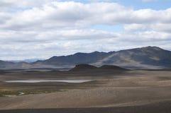 Góry i law pustynie w Iceland Obrazy Royalty Free