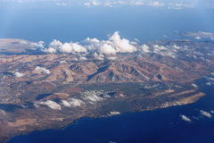 Góry i linia brzegowa wyspa Lanzarote Fotografia Royalty Free