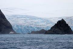 Góry i lodowiec, Antarktyczny krajobraz Zdjęcie Stock