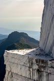 Góry i Marmurowy łup Zdjęcia Royalty Free