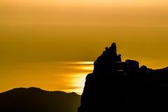 Góry i Marmurowy łup Fotografia Royalty Free