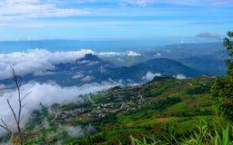 Góry i mgła Obraz Royalty Free
