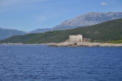 Góry i morze Zdjęcia Royalty Free