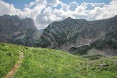 Góry i obszar trawiasty - Durmitor góry, Dinaric Alps zdjęcie stock