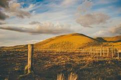Góry i pole Fotografia Stock