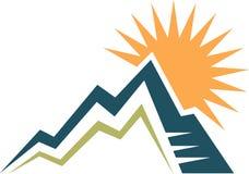 Góry i słońca logo Zdjęcia Stock