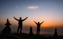 Góry i szczęście obrazy royalty free