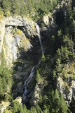 Góry i woda w Tena dolinie, Pyrenees Urdiceto Fotografia Royalty Free