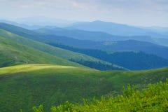 Góry i wzgórza panoramiczni Zdjęcie Royalty Free