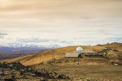 Góry John obserwatorium Nowa Zelandia Zdjęcia Stock