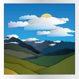 Góry karty papier Obrazy Stock