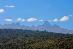 Góry Kenja panoramy sceniczny widok Zdjęcie Royalty Free