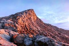 Góry Kinabalu depresji Szczytowy wschód słońca Zdjęcia Royalty Free