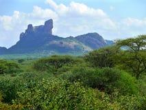Góry. Krajobrazowa natura. Afryka, Kenja. Zdjęcie Stock