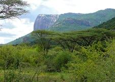 Góry. Krajobrazowa natura. Afryka, Kenja. Zdjęcia Royalty Free