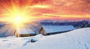 góry krajobrazowa zima fotografia stock