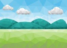 Góry krajobrazowy niski poli- Zdjęcia Royalty Free
