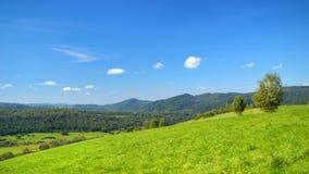 Góry kształtują teren Bieszczady Fotografia Stock