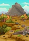 Góry kształtują teren tło Zdjęcia Royalty Free