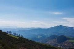Góry Kształtują teren w Galicia, Hiszpania Fotografia Stock