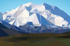 Góry kształtują teren w poligonalnym stylu Góry tło w niski poli- ilustracja wektor
