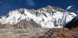 Góry Lhotse południe skały twarz Fotografia Stock