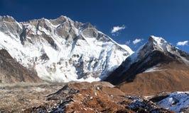 Góry Lhotse południe skały twarz Obraz Stock