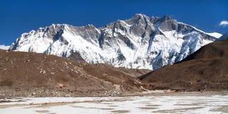 Góry Lhotse południe skały twarz Fotografia Royalty Free