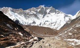 Góry Lhotse południe skały twarz Zdjęcie Royalty Free