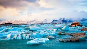 Góry lodowa Iceland zima zdjęcie royalty free