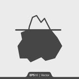 Góry lodowa ikona dla sieci i wiszącej ozdoby Fotografia Royalty Free