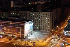 Góry lodowa Nowożytny centrum handlowe przy nocą Fotografia Stock