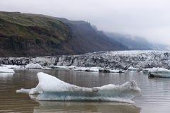 Góry lodowa w Fjallsarlon gleczeru lagunie Obrazy Royalty Free