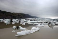 Góry lodowa w Fjallsarlon gleczeru lagunie Fotografia Royalty Free