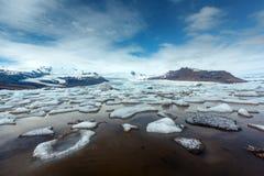 Góry lodowa w Fjallsarlon gleczeru lagunie Obraz Stock