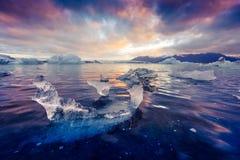 Góry lodowa w Jokulsarlon gleczeru lagunie Obraz Stock
