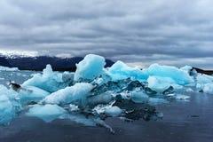 Góry lodowa w Jokulsarlon gleczeru lagunie Obrazy Stock
