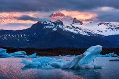 Góry lodowa w Jokulsarlon gleczeru lagunie Obraz Royalty Free
