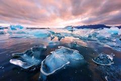 Góry lodowa w Jokulsarlon gleczeru lagunie Fotografia Royalty Free