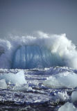góry lodowe upadanie obrazy stock