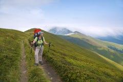 Góry matka z dzieckiem i krajobraz Fotografia Royalty Free