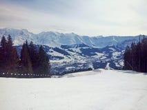 Góry Megeve, Francja Zdjęcie Royalty Free