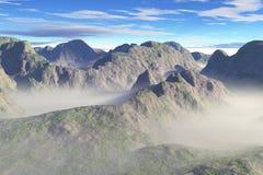 góry mglistej doliny Obrazy Royalty Free
