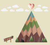 Góry miłość royalty ilustracja