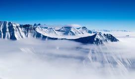 Góry nad chmurami Zdjęcie Royalty Free