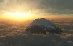 góry nad zmierzchem zdjęcie royalty free