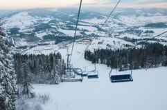 Góry narciarski dźwignięcie Obraz Royalty Free