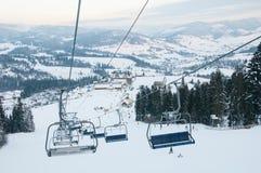 Góry narciarski dźwignięcie Fotografia Stock